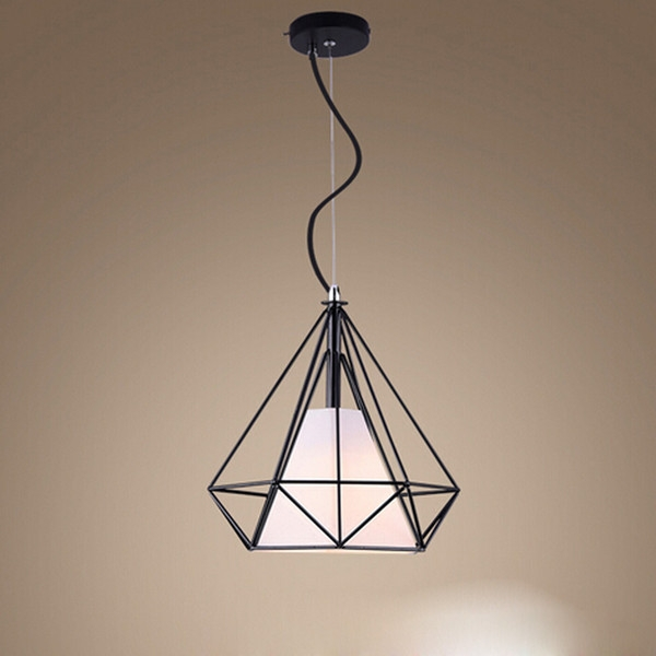 Fantastic Wellliked Wrought Iron Lights Inside E27 Birdcage Pendant Lights Whiteblack Scandinavian Modern (View 24 of 25)