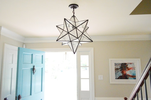 Fantastic Wellliked Young House Love Pendant Lights Within Hanging A Moravian Star Light In The Foyer Young House Love (Image 10 of 25)