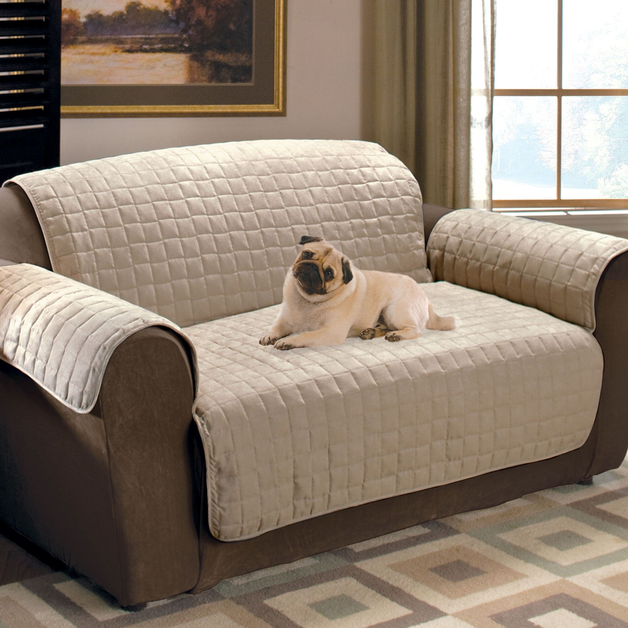 Faux Suede Pet Furniture Covers For Sofas Loveseats And Chairs Pertaining To Dog Sofas And Chairs (Image 6 of 15)