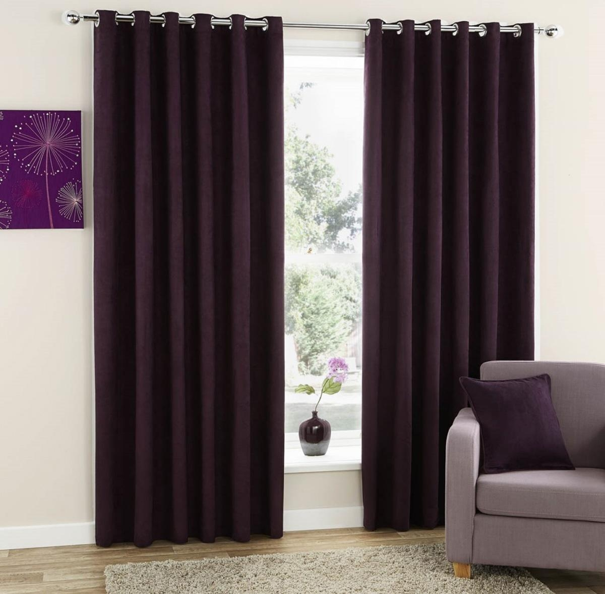 Faux Suede Ready Made Eyelet Curtains Free Uk Delivery Terrys With Regard To Brown Eyelet Curtains (Image 7 of 25)