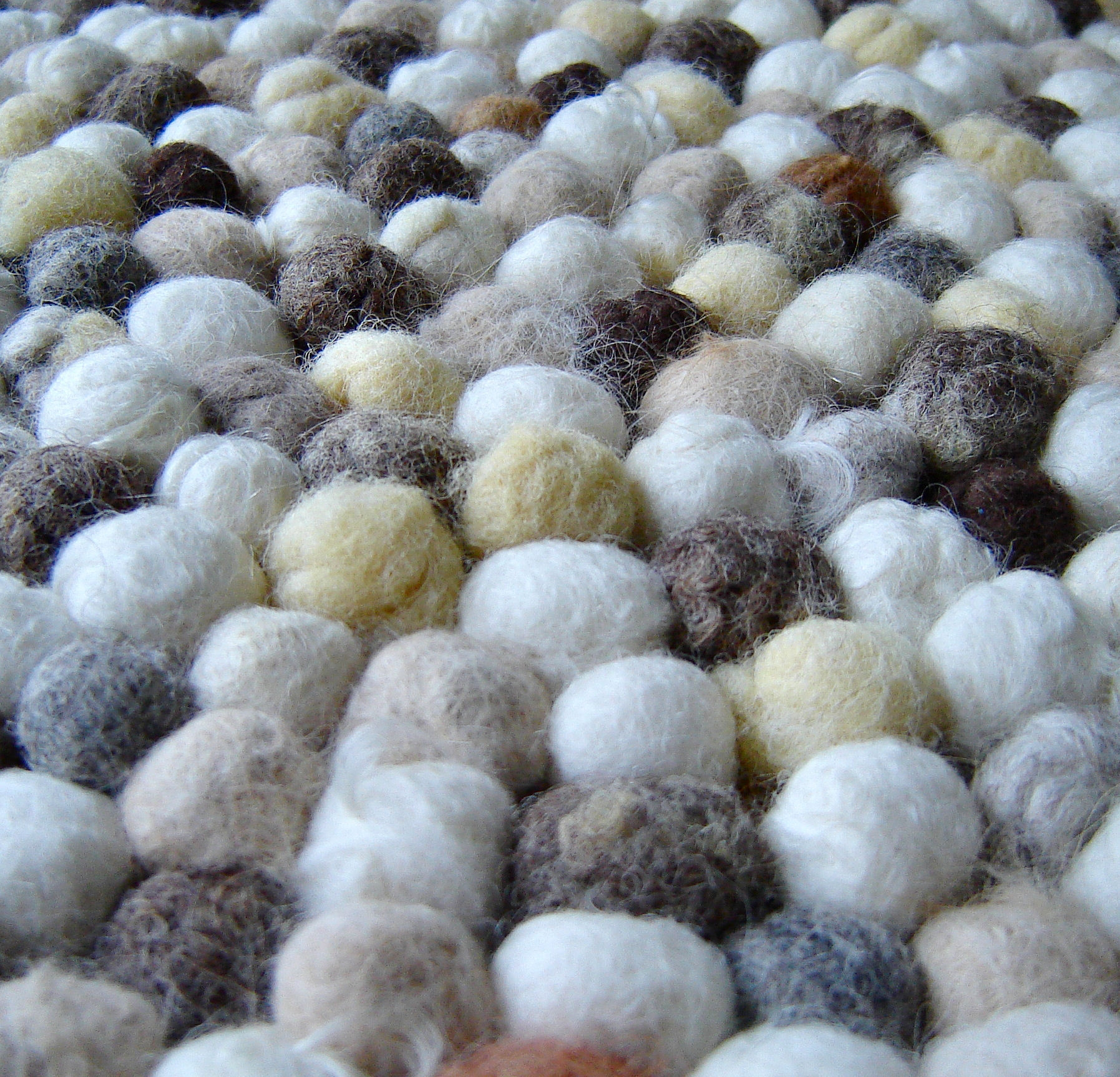 Felt Ball Rug 3 Steps With Pictures With Alpaca Rugs (View 15 of 15)