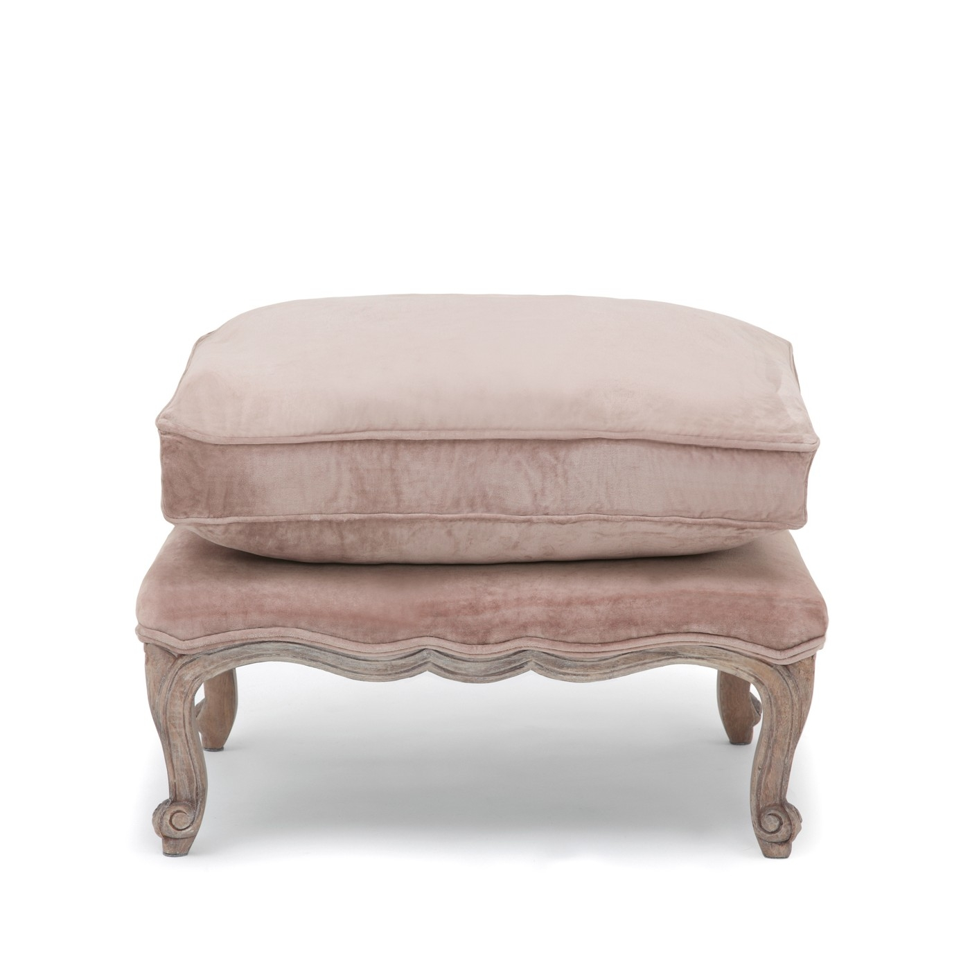 Filou French Footstool Mink Velvet Within Home Intended For Velvet Footstool (Image 9 of 15)