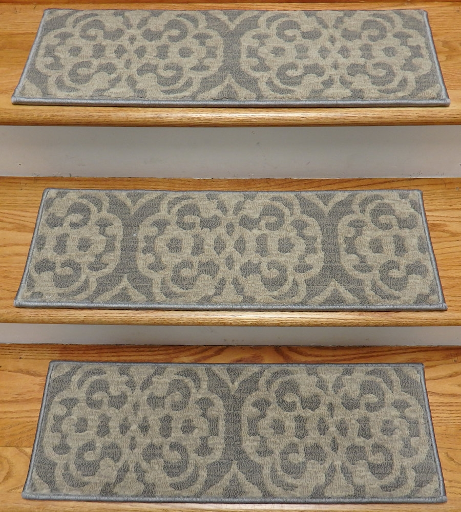 Finished Carpet Stair Treads Tread Sets For Stairs Carpet Treads Inside Set Of 13 Stair Tread Rugs (Photo 1 of 15)
