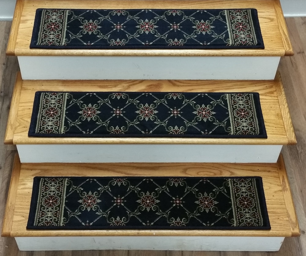 Finished Carpet Stair Treads Tread Sets For Stairs Carpet Treads Throughout 8 Inch Stair Treads (Image 8 of 15)