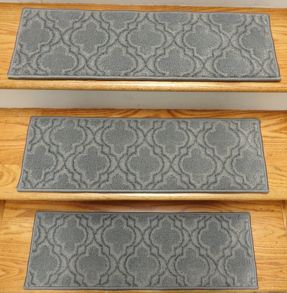 Finished Carpet Stair Treads Tread Sets For Stairs Carpet Treads Throughout Stair Tread Rug Sets (Image 4 of 15)