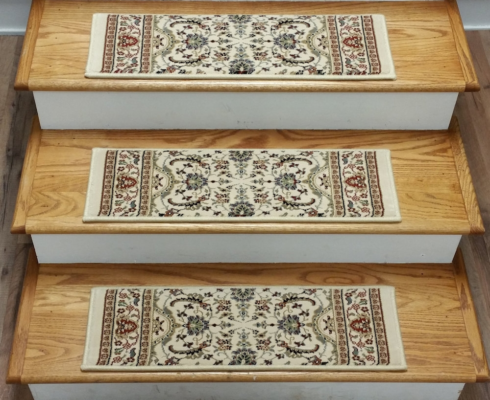 Finished Carpet Stair Treads Tread Sets For Stairs Carpet Treads With 8 Inch Stair Treads (Photo 3 of 15)