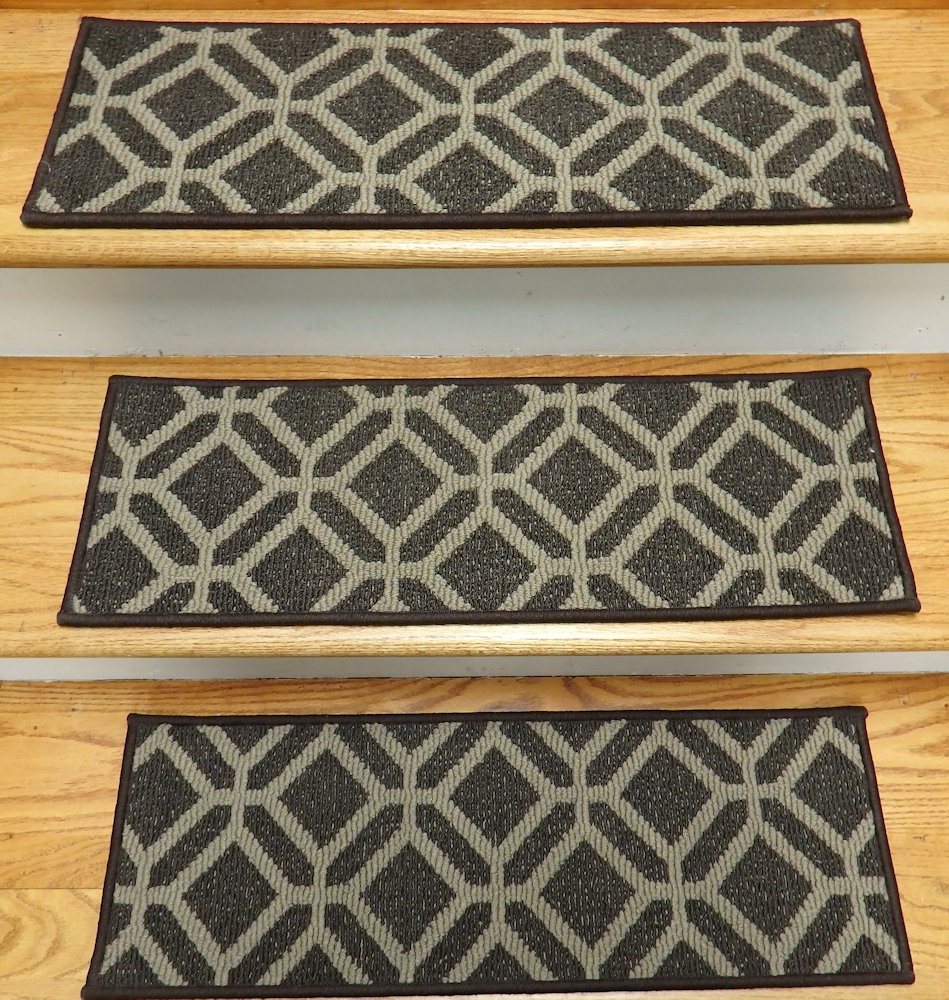 Finished Carpet Stair Treads Tread Sets For Stairs Carpet Treads With Stair Tread Rug Liners (Image 3 of 15)