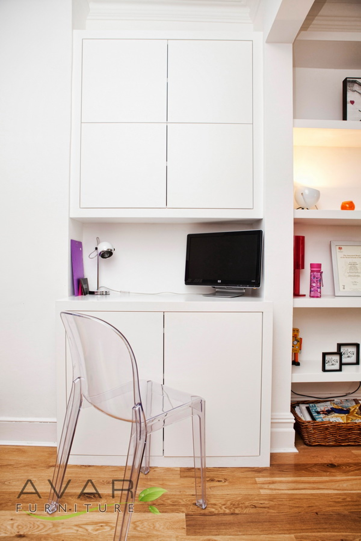 Fitted Alcove Units Built In Cupboards From Avar Furniture Inside Study Cupboards (View 3 of 15)