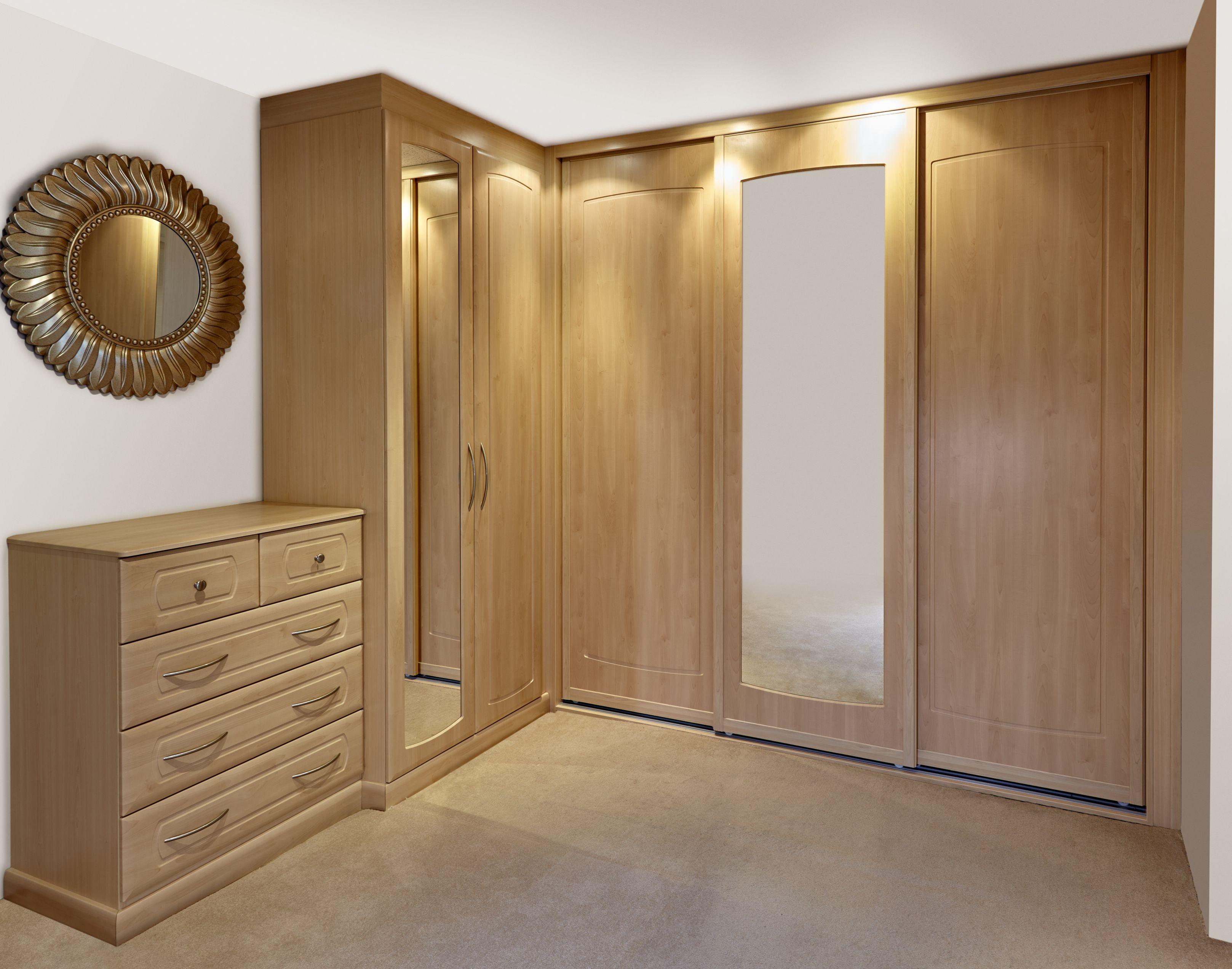 Fitted Bedrooms 4 Modern Style Wardrobe Designs For Bedroom A For Fitted Wooden Wardrobes (Image 9 of 15)