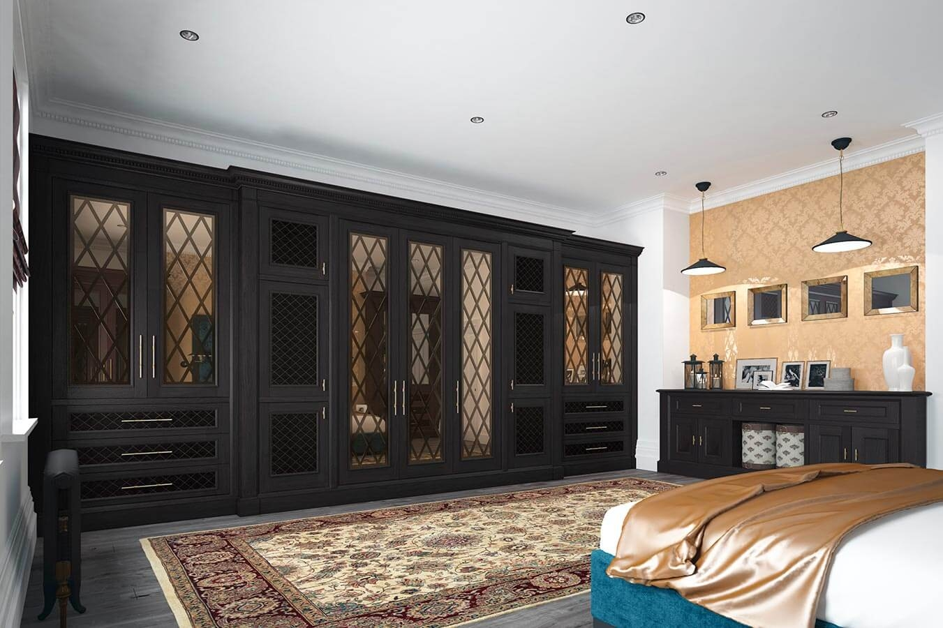 Fitted Bedrooms Wardrobes Beds And Chests Of Drawers Within Dark Wardrobes (Image 9 of 15)