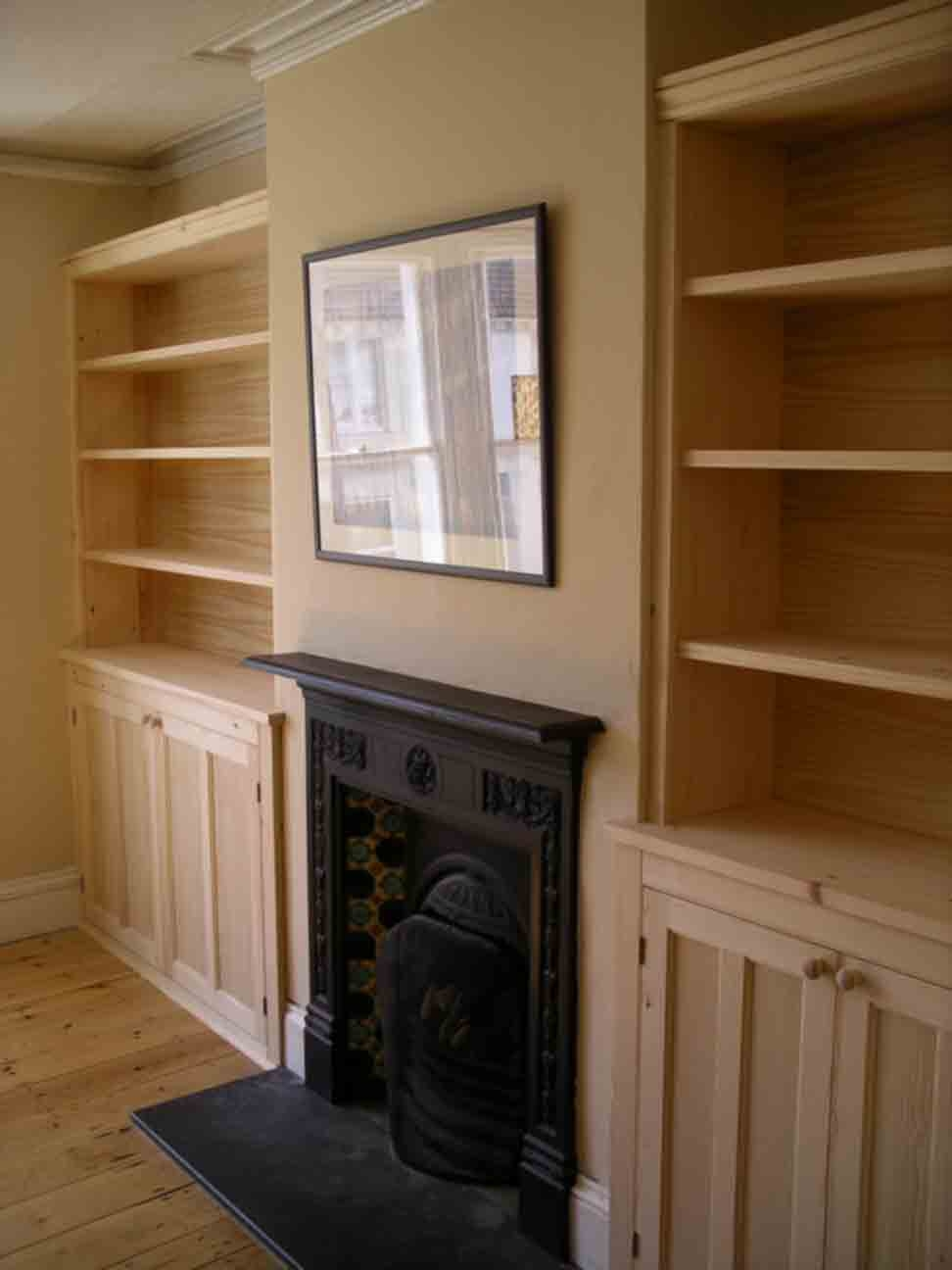 Fitted Bookcases Peter Henderson Furniture Brighton Uk In Handmade Cupboards (Image 6 of 15)