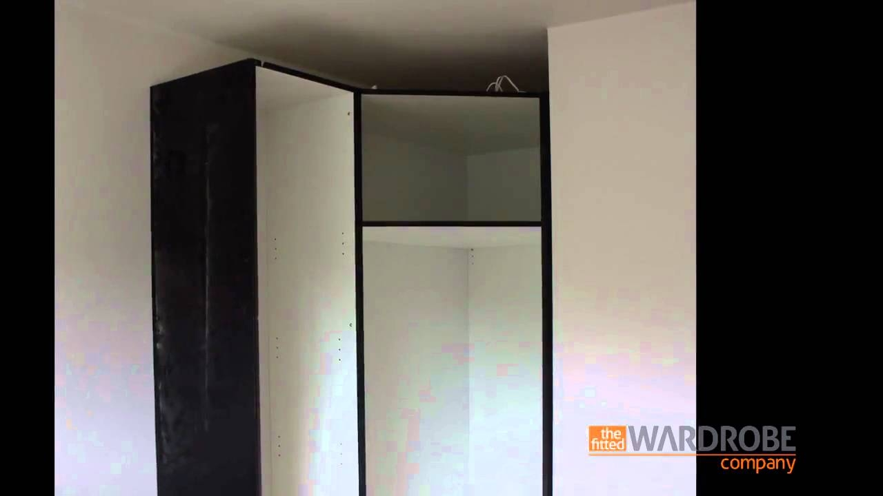 Fitted Corner Wardrobe High Gloss Black Youtube In Corner Wardrobe Closet IKEA (Image 11 of 25)