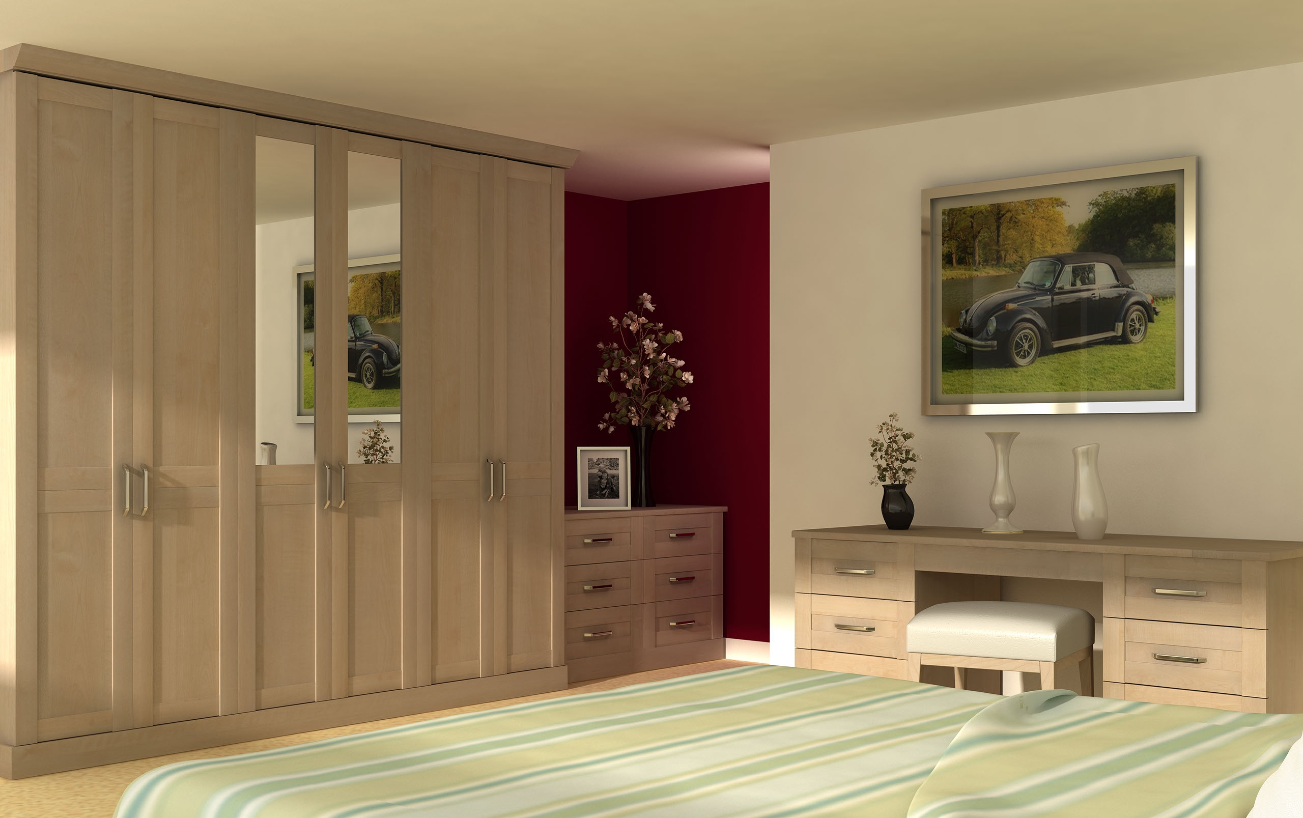 Fitted Sliding Wardrobes Excellent Mirrored Fitted Wardrobes Intended For Solid Wood Built In Wardrobes (Image 8 of 15)