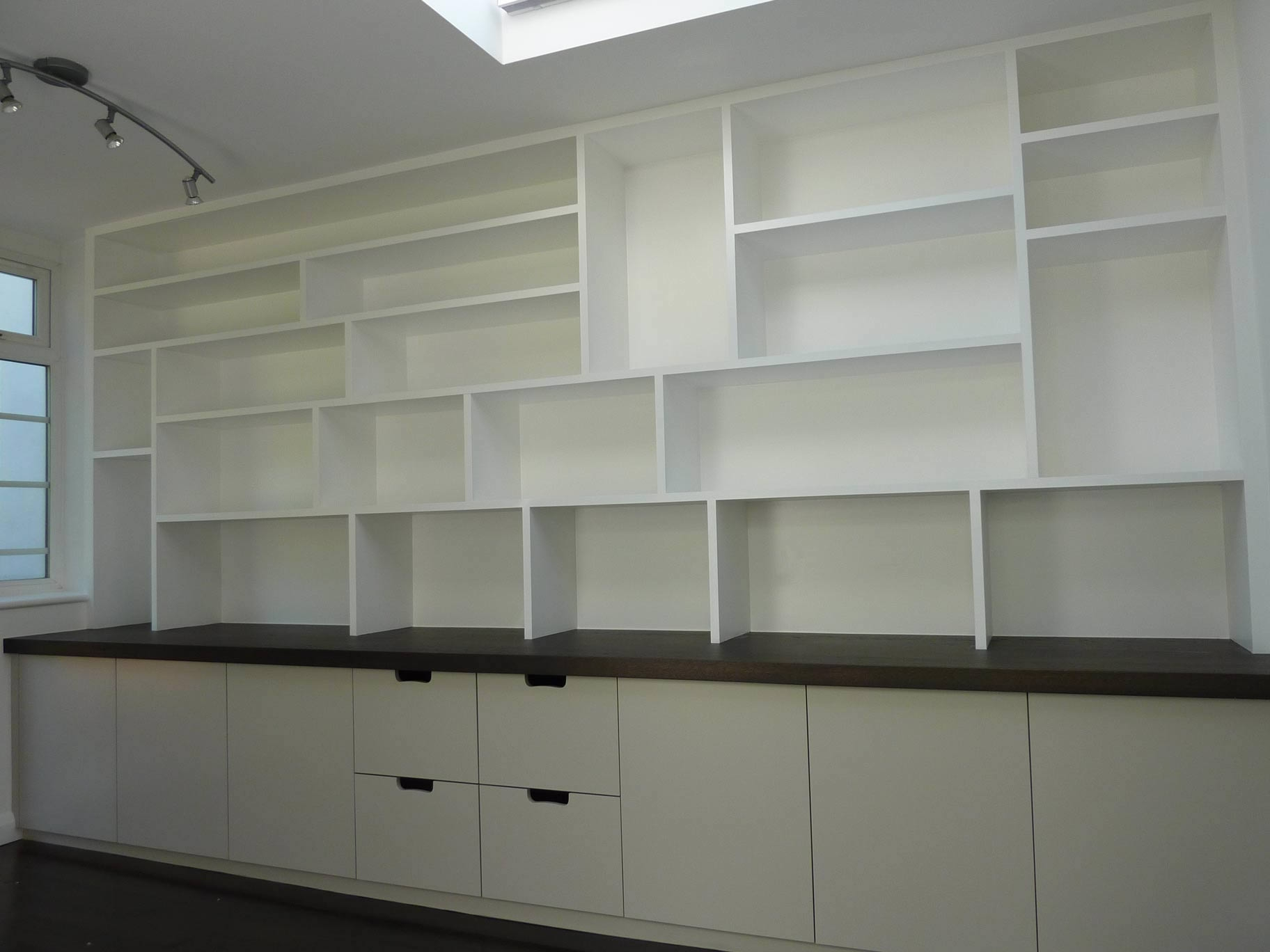 Fitted Study Cabinetry Handmade Peter Henderson Furniture With Regard To Office Wall Cupboards (Image 4 of 15)