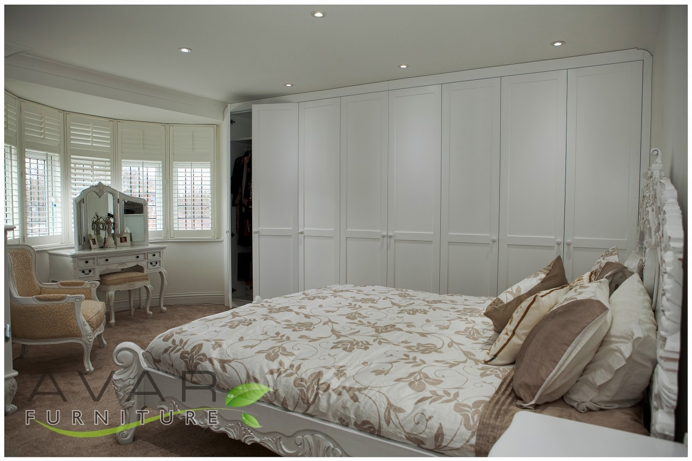 Fitted Wardrobe Ideas Gallery 7 North London Uk Avar Within Wall Wardrobes (Image 6 of 15)