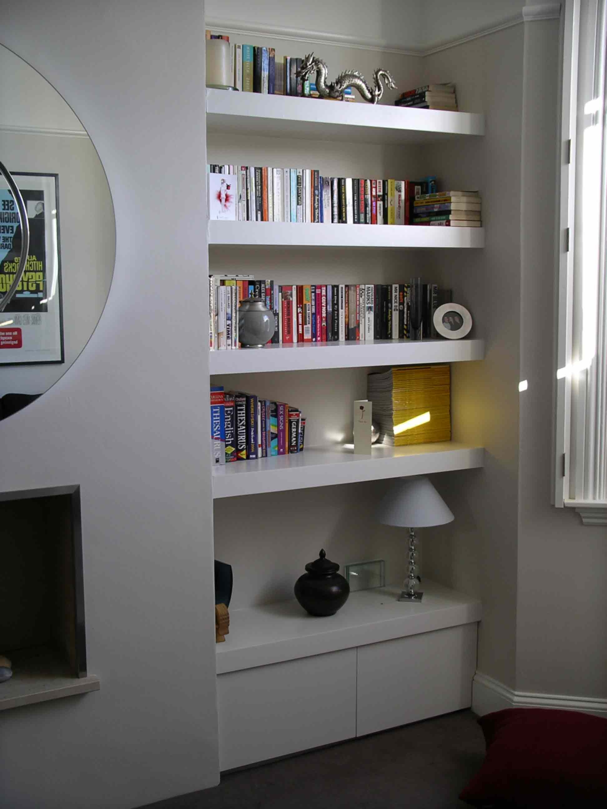 Fitted Wardrobes Bookcases Shelving Floating Shelves London For Bookcases With Cupboards (View 11 of 15)