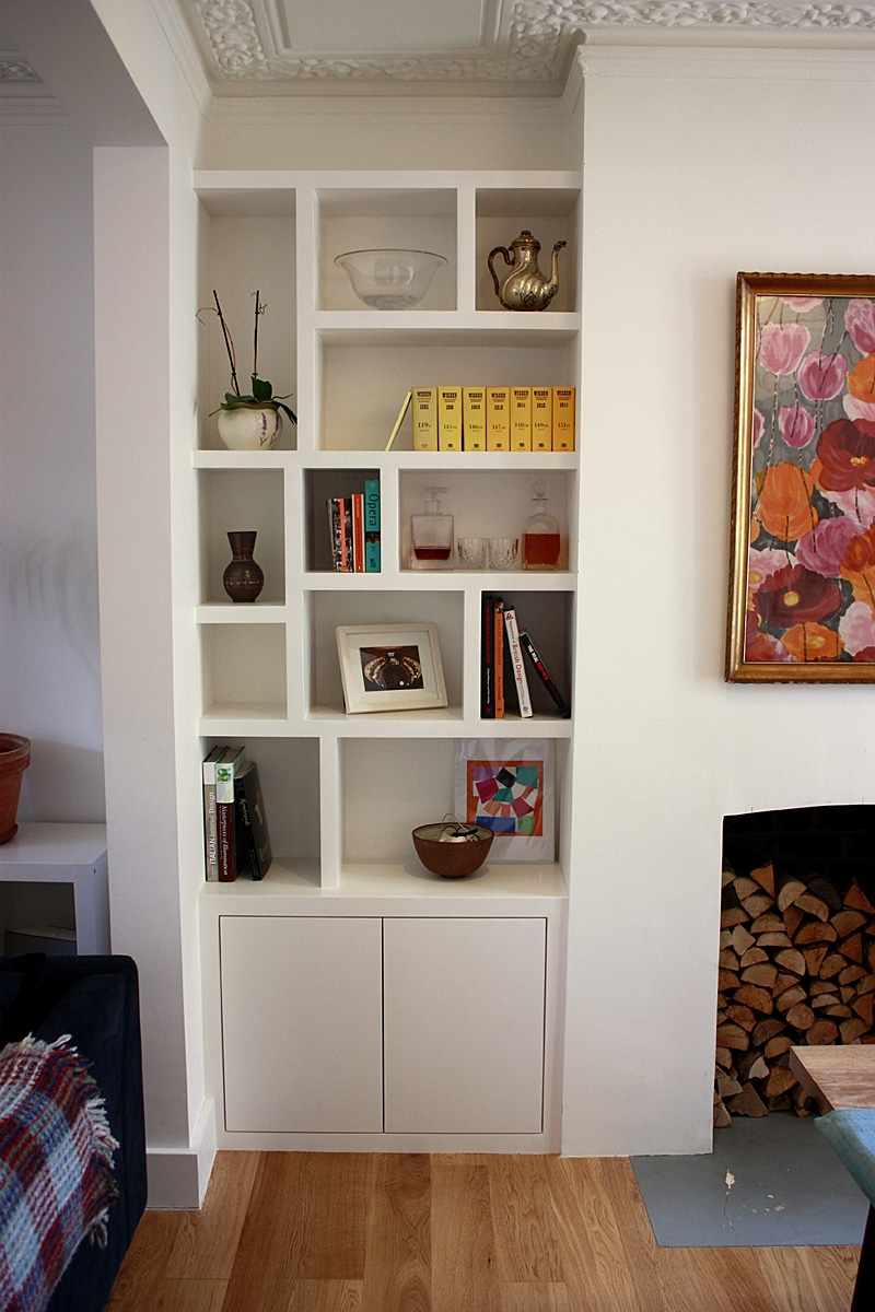 Fitted Wardrobes Bookcases Shelving Floating Shelves London For Living Room Fitted Cabinets (Image 10 of 15)