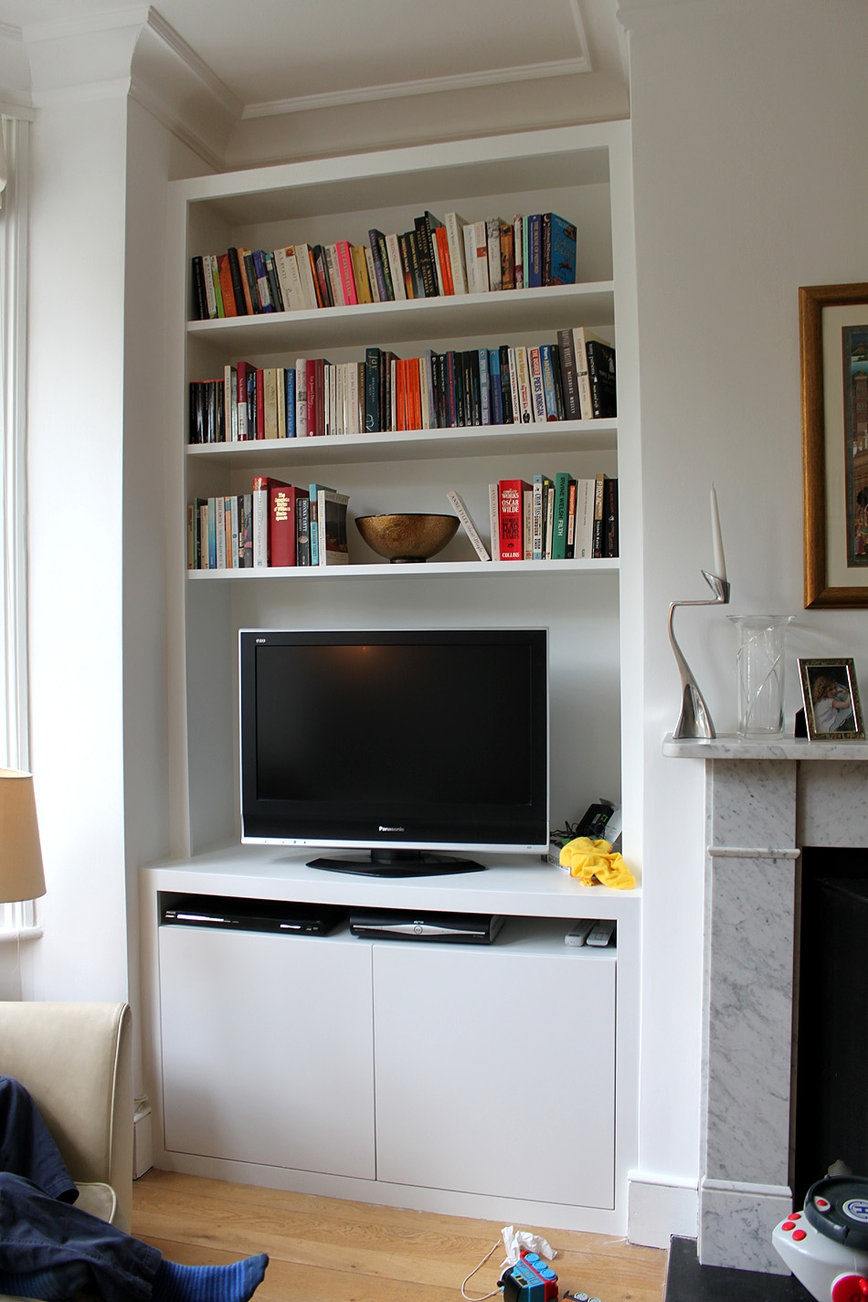 Fitted Wardrobes Bookcases Shelving Floating Shelves London In Bespoke Tv Cabinet (Image 9 of 15)