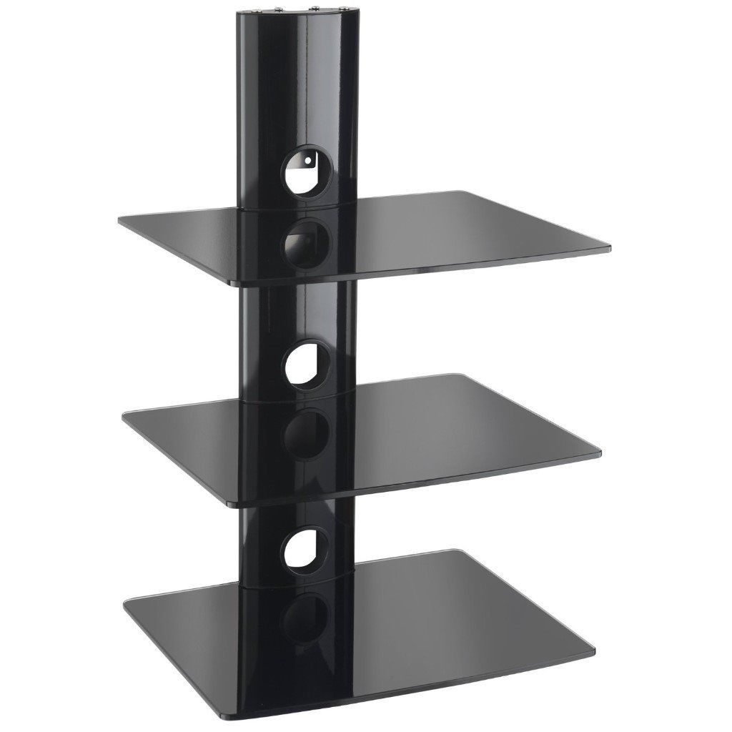 Floating Black Glass Shelves Gc810 Home Shelves With Floating Black Glass Shelves (Image 9 of 15)