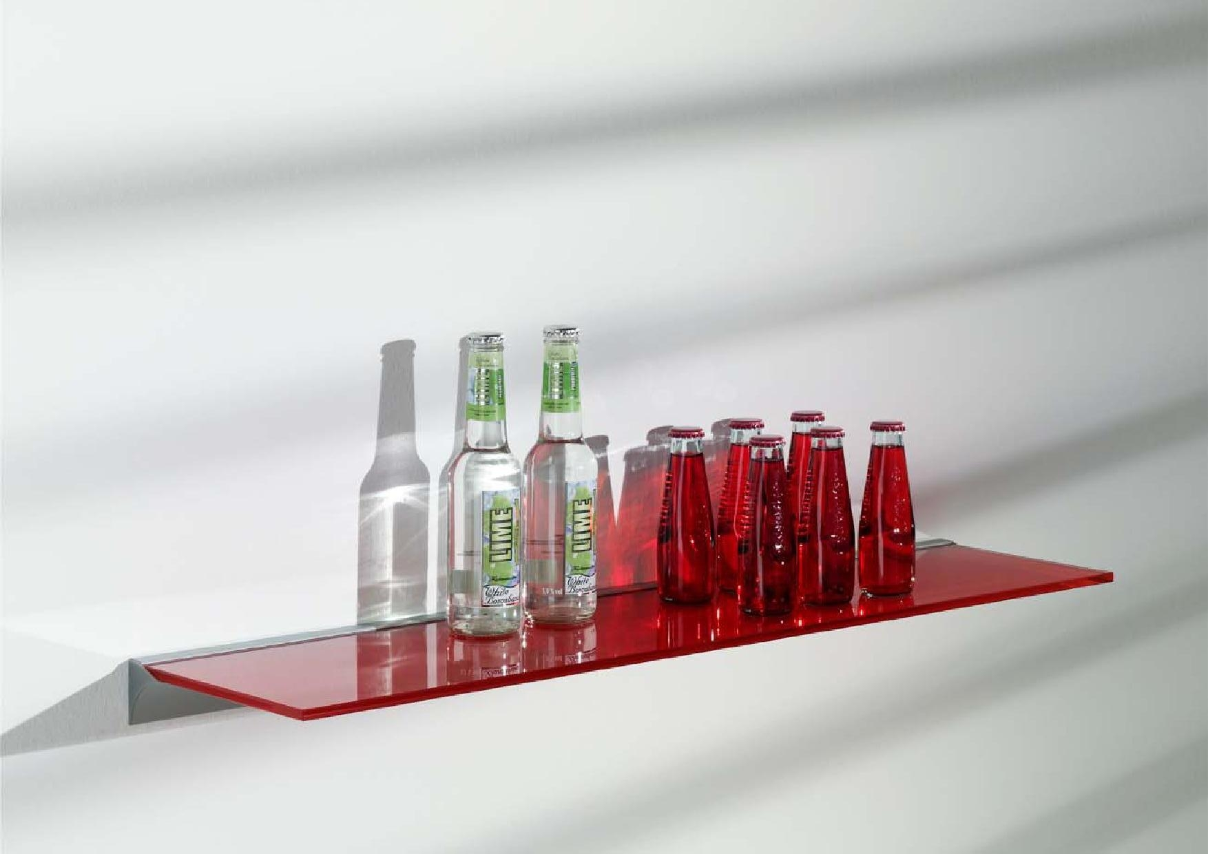 Floating Glass Shelf For Elegant And Minimalist Storage Home In Coloured Floating Shelves (Image 8 of 15)