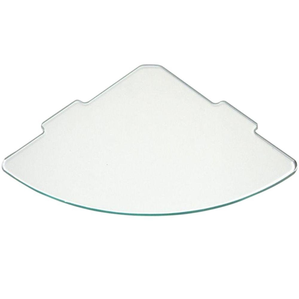 Floating Glass Shelves 14 In Curve Glass Corner Shelf Price Intended For Floating Corner Glass Shelves (Image 6 of 15)