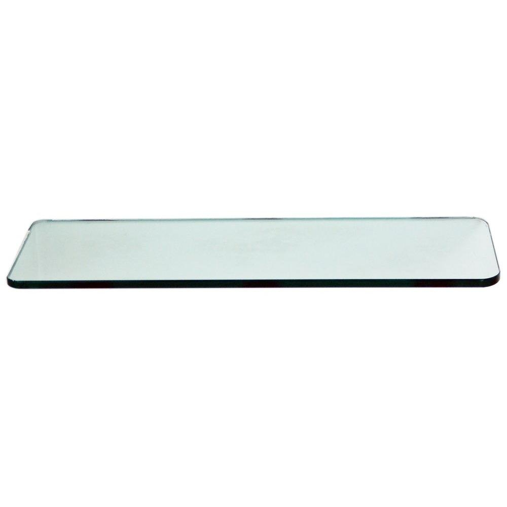 Floating Glass Shelves 38 In Rectangle Glass Corner Shelf Price Within Free Floating Glass Shelves (Image 5 of 15)