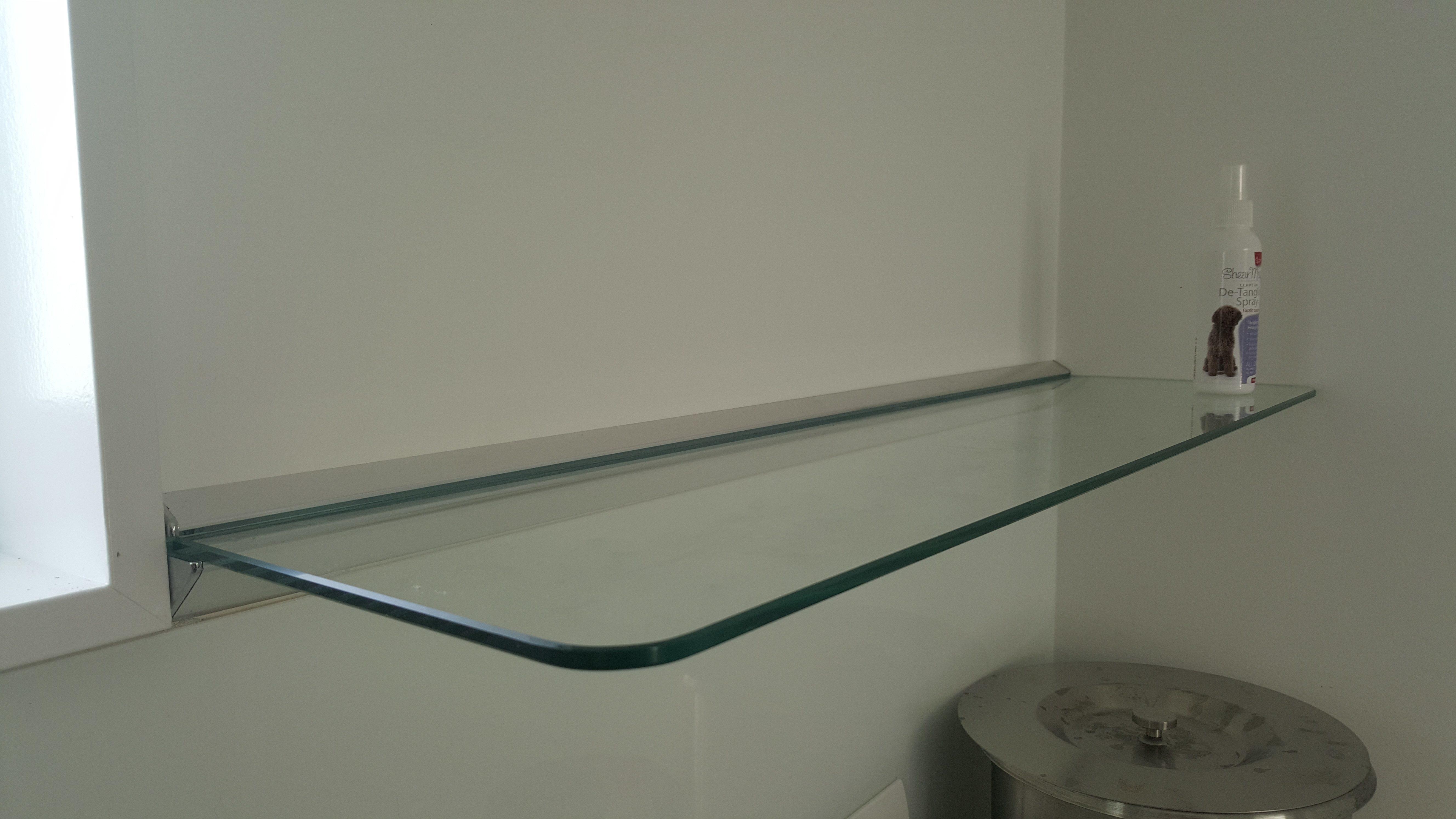Floating Glass Shelves Cliff Hanger Shelving Ltd Intended For Glass Shelf Brackets Floating On Air (Image 6 of 15)