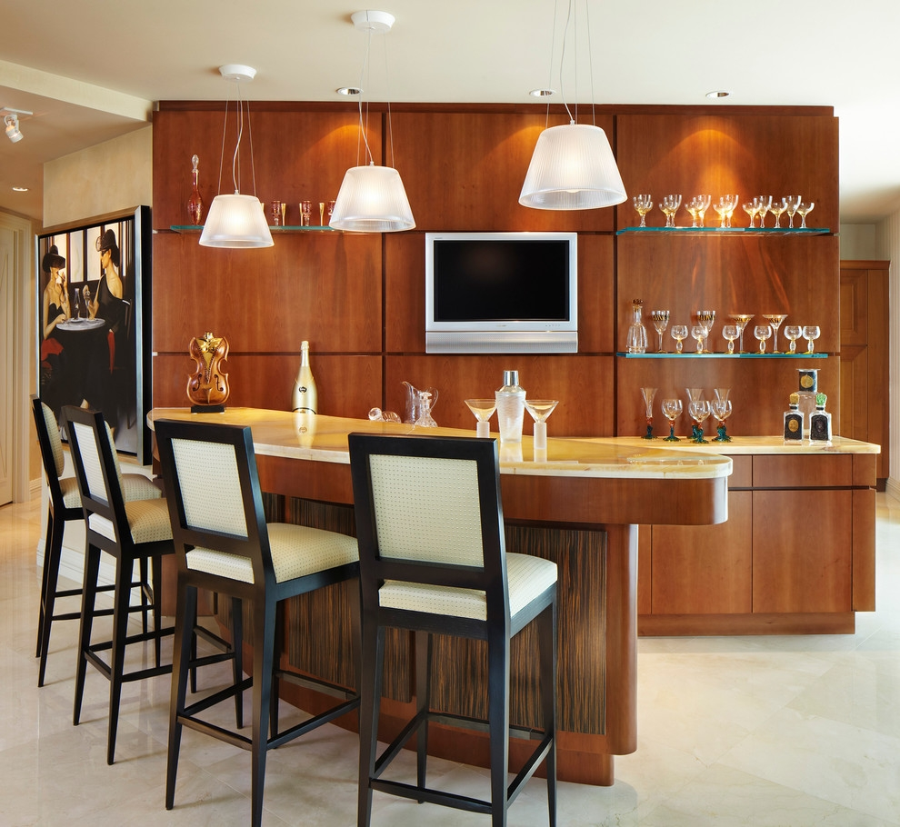 Floating Glass Shelves Family Room Modern With Art Bar Bar Stools For Floating Glass Shelves For Bar (Image 4 of 15)