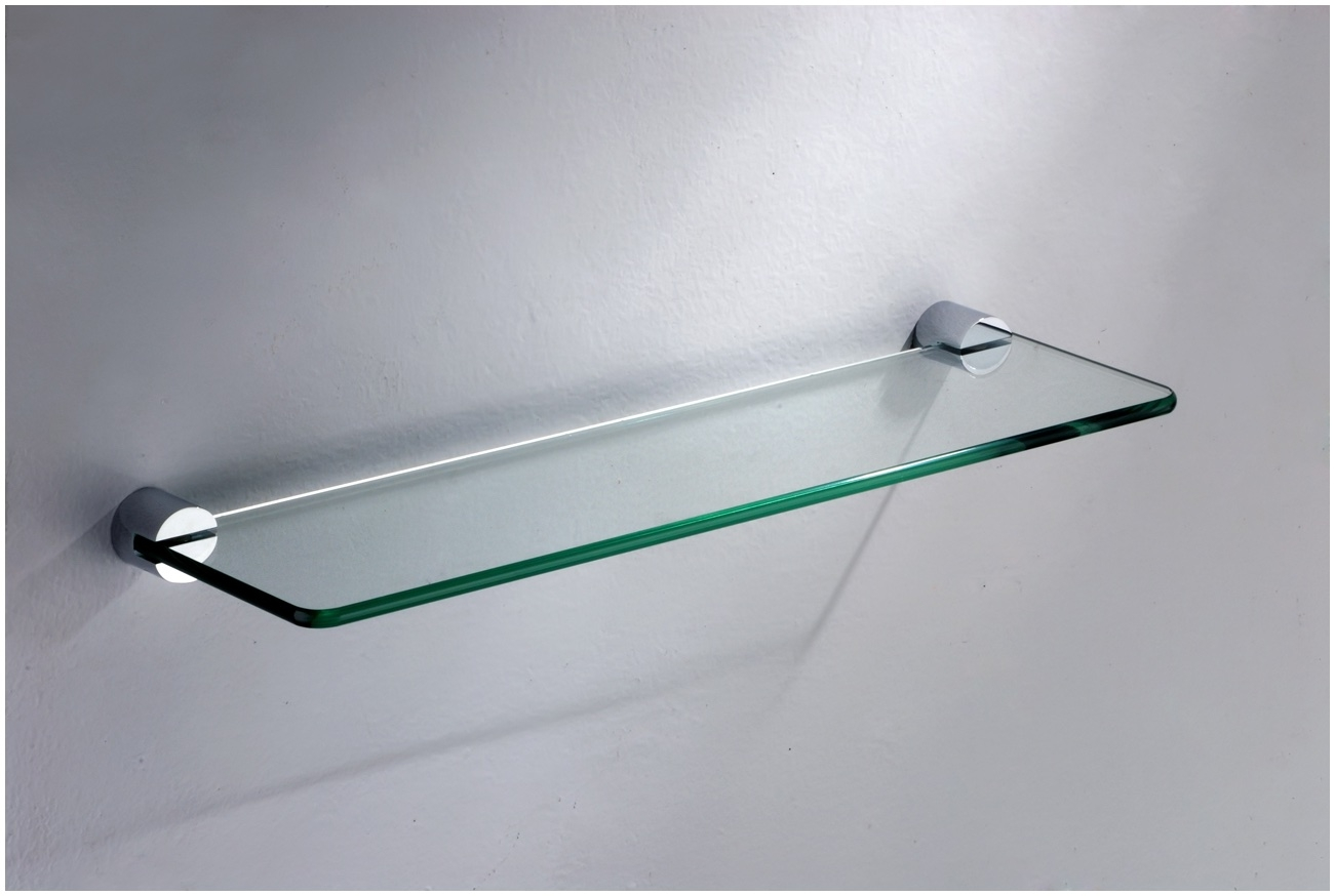 Floating Glass Shelves For Cable Box Rectangle Two Clear Glass Pertaining To Clear Glass Floating Shelves (Image 10 of 15)