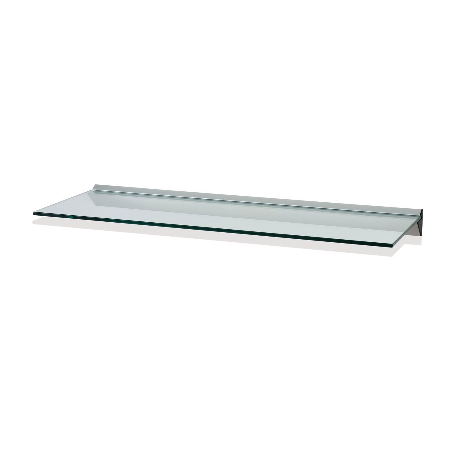 Floating Glass Shelves For Cable Box Rectangle Two Clear Glass Throughout Clear Glass Floating Shelves (Image 11 of 15)