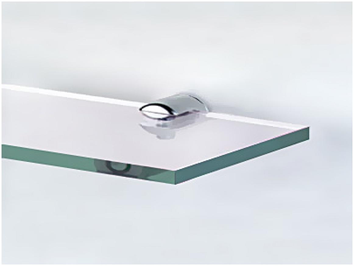 Floating Glass Shelves Installation Foxhunter Bevelled Mirrored In Floating Corner Glass Shelves (Image 8 of 15)