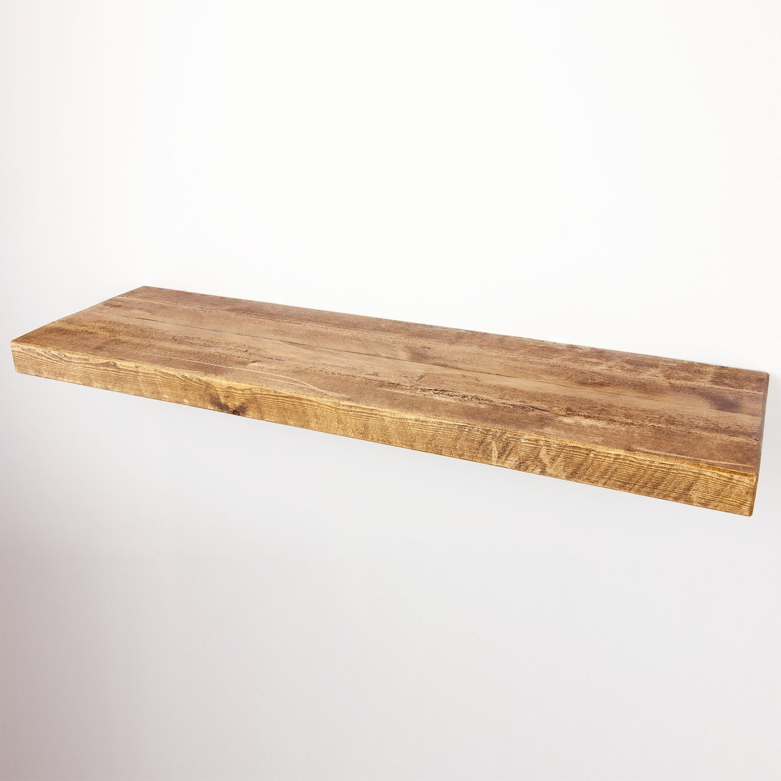 Floating Shelf 12×2 Solid Pine Funky Chunky Furniture Inside 50cm Floating Shelf (Image 4 of 15)