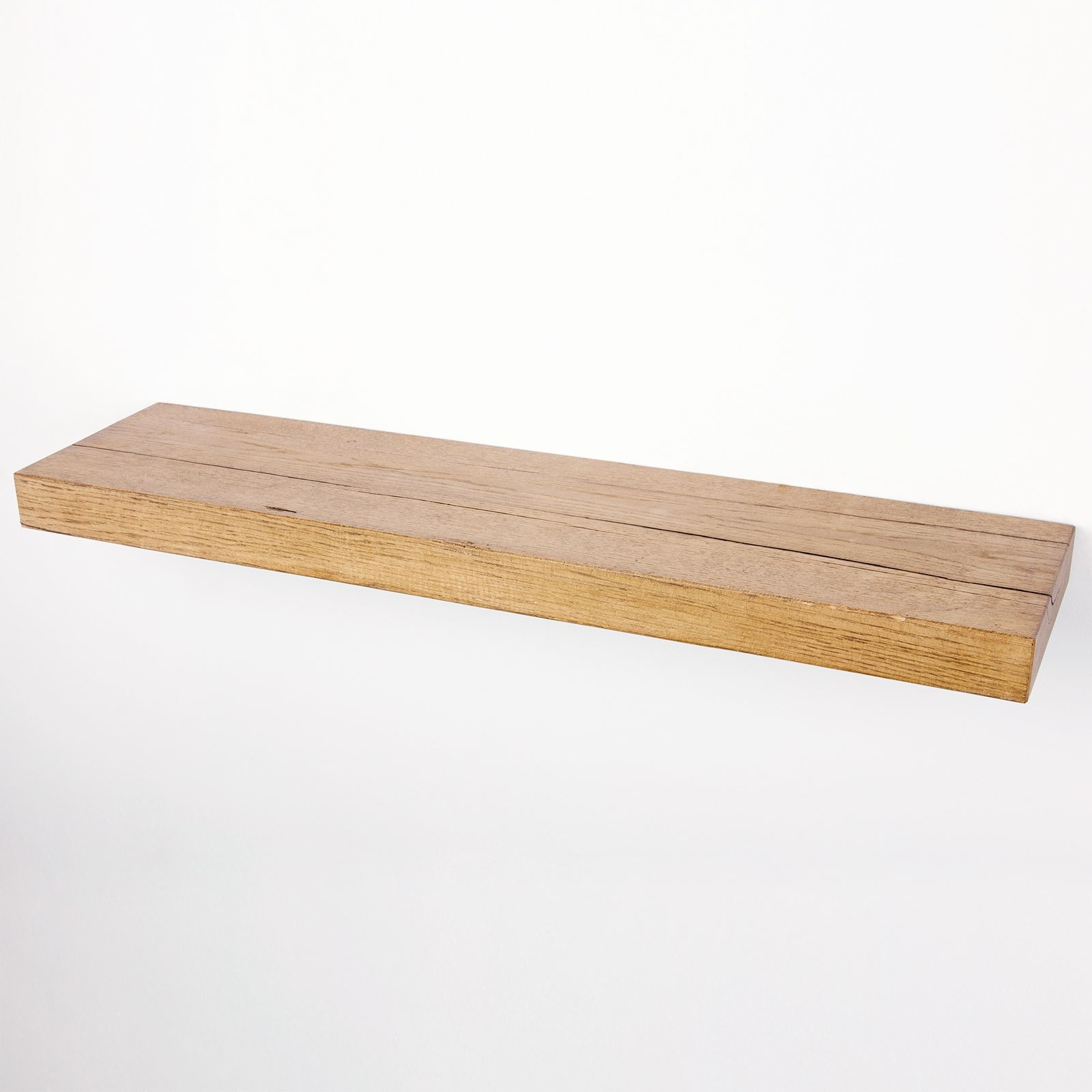 Floating Shelf 8×2 Solid Oak Funky Chunky Furniture Regarding Floating Shelf 40cm (Image 3 of 15)