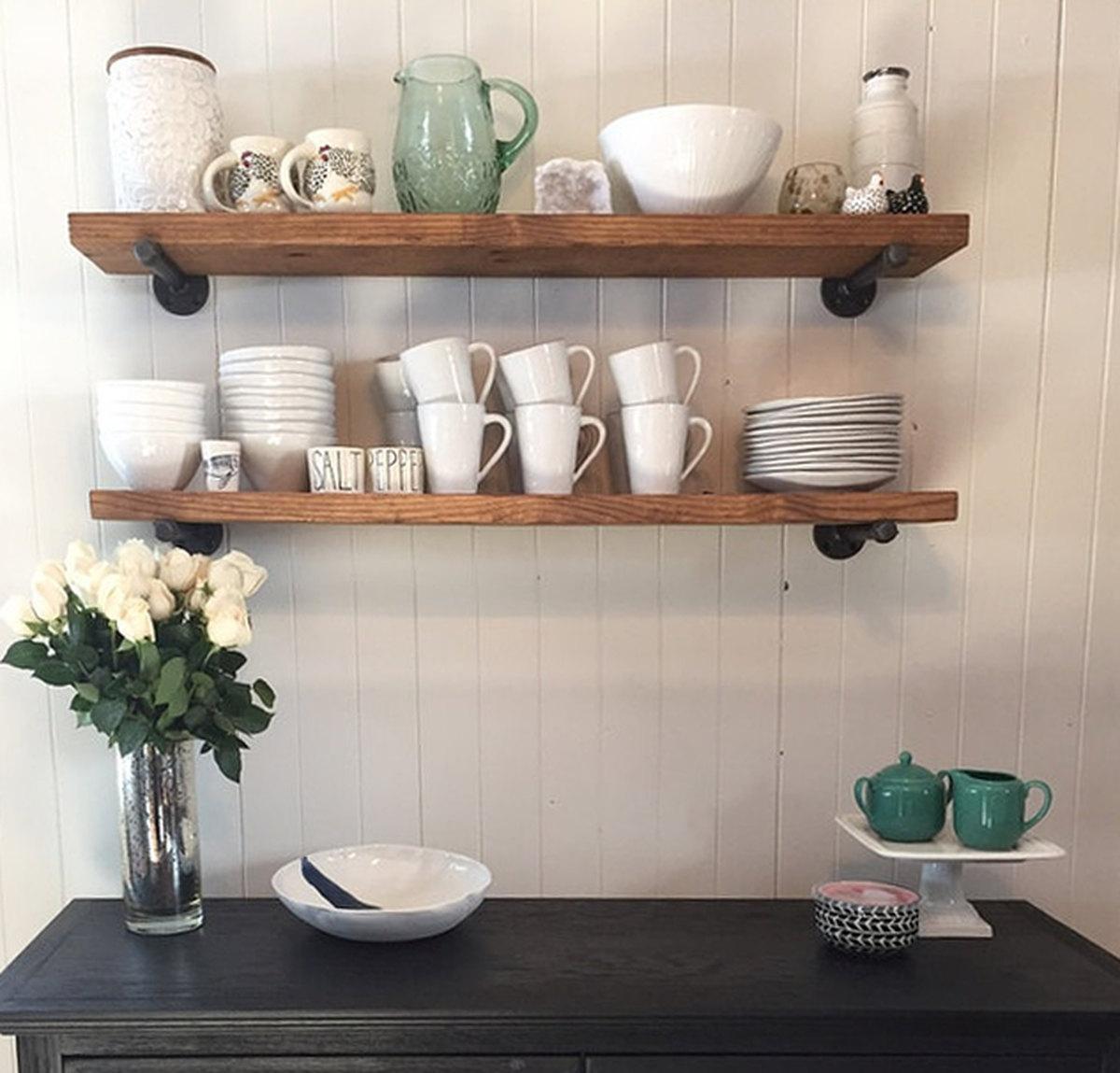 Floating Shelf Etsy With Floating Shelves (Image 7 of 15)