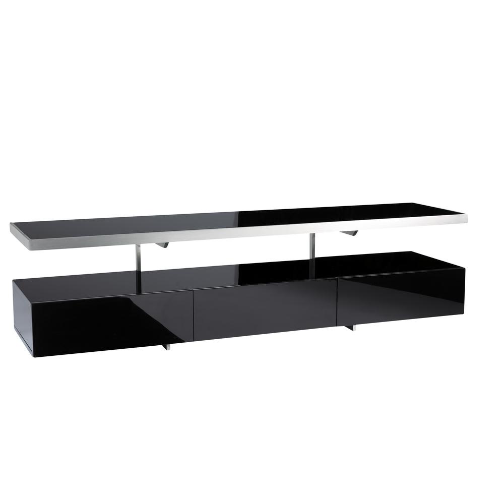 Floating Shelf Unit With Floating Black Glass Shelf (Image 10 of 15)