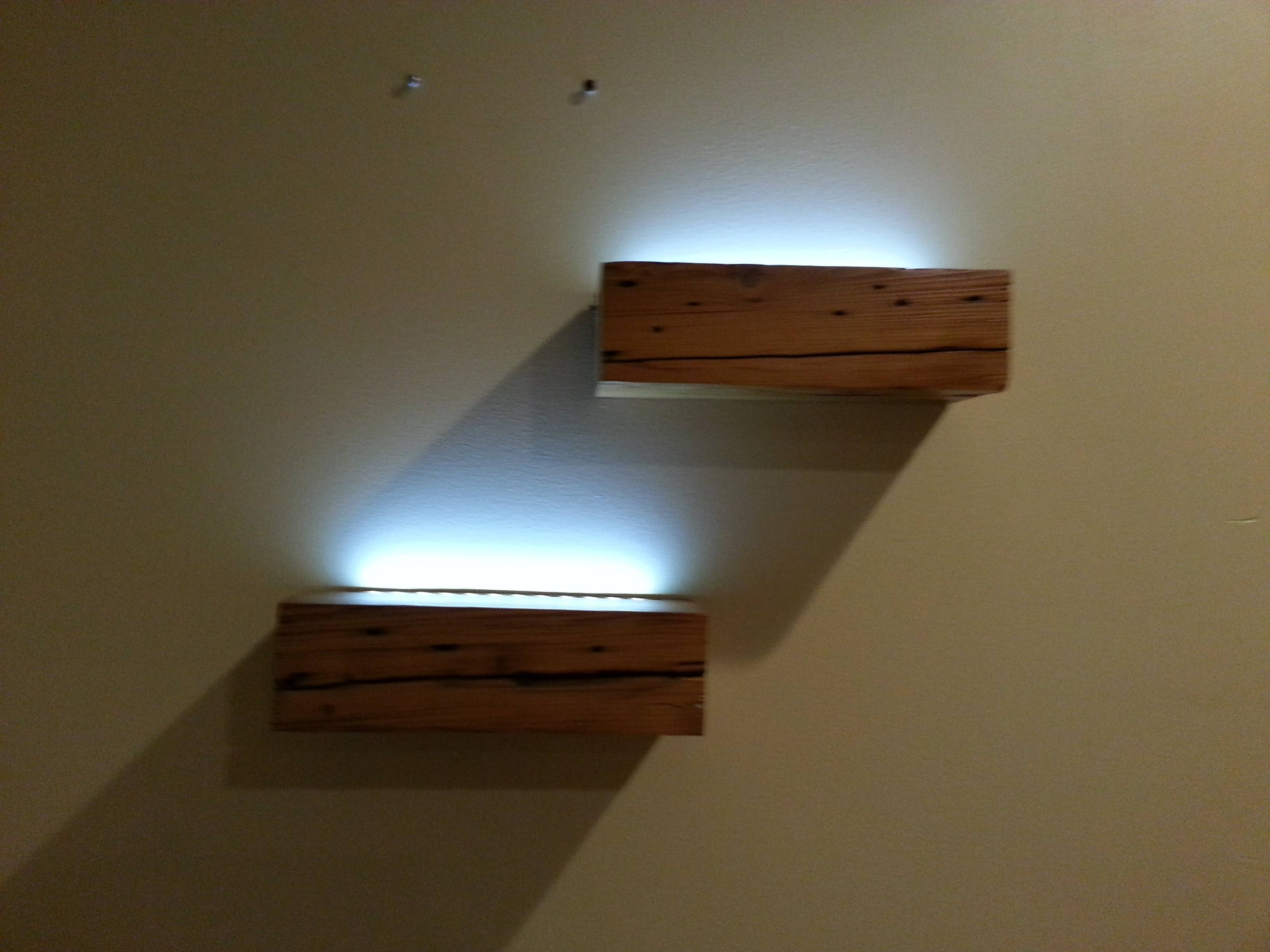 Floating Shelves With Lights Roselawnlutheran In Led Floating Shelves (View 2 of 15)