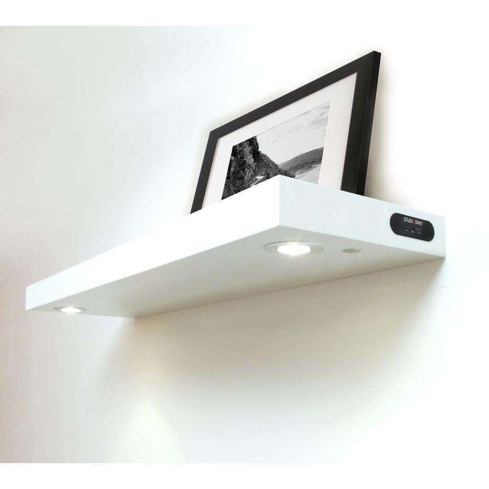 Floating Shelves With Lights Roselawnlutheran Regarding Led Floating Shelves (View 13 of 15)