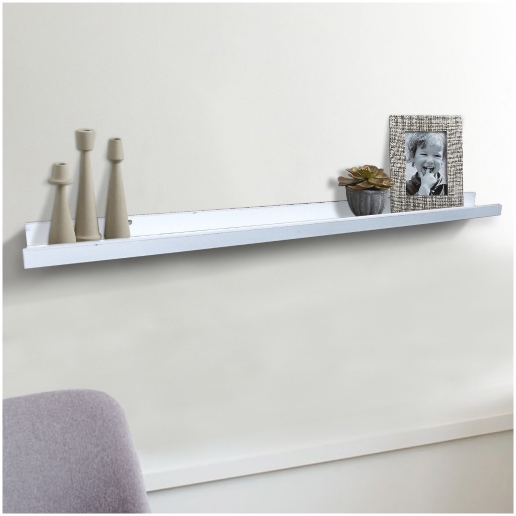 Floating White Shelves Uk Gloss White Floating Shelf 100cm With Regard To Floating Shelf 100cm (Image 6 of 15)