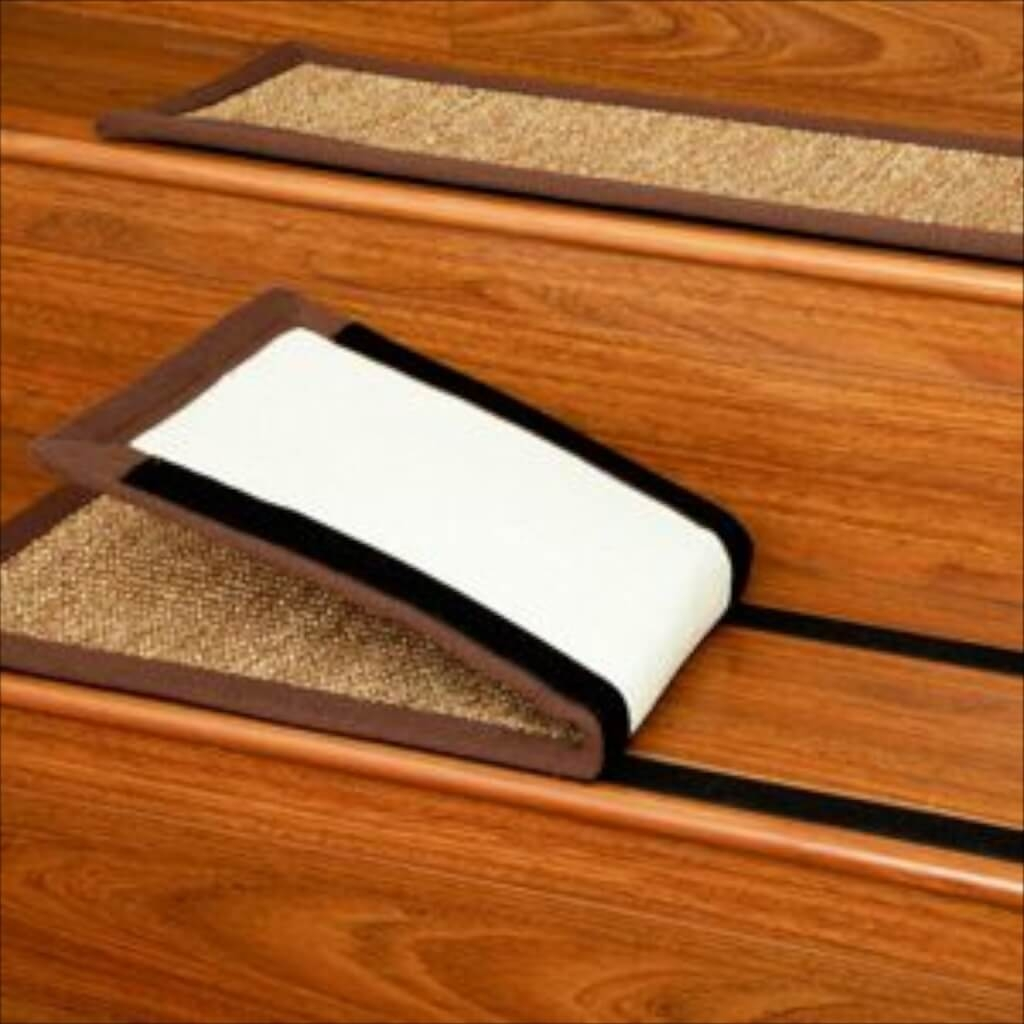 Flooring Black Rubber Non Slip Stair Treads For Wooden Steps Non In Non Slip Carpet For Stairs (View 6 of 15)