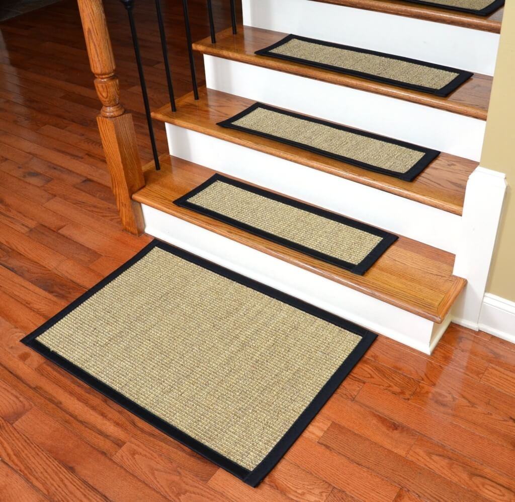 Flooring Cheap Carpet Non Slip Stair Treads For Hardwood Throughout Carpet Treads For Hardwood Stairs (Image 7 of 15)