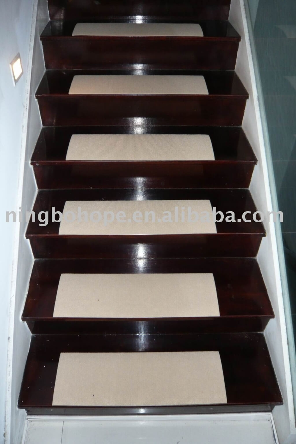 Flooring Cheap Carpet Non Slip Stair Treads For Hardwood With Regard To Nonskid Solid Stairtread Rugs (Image 3 of 15)