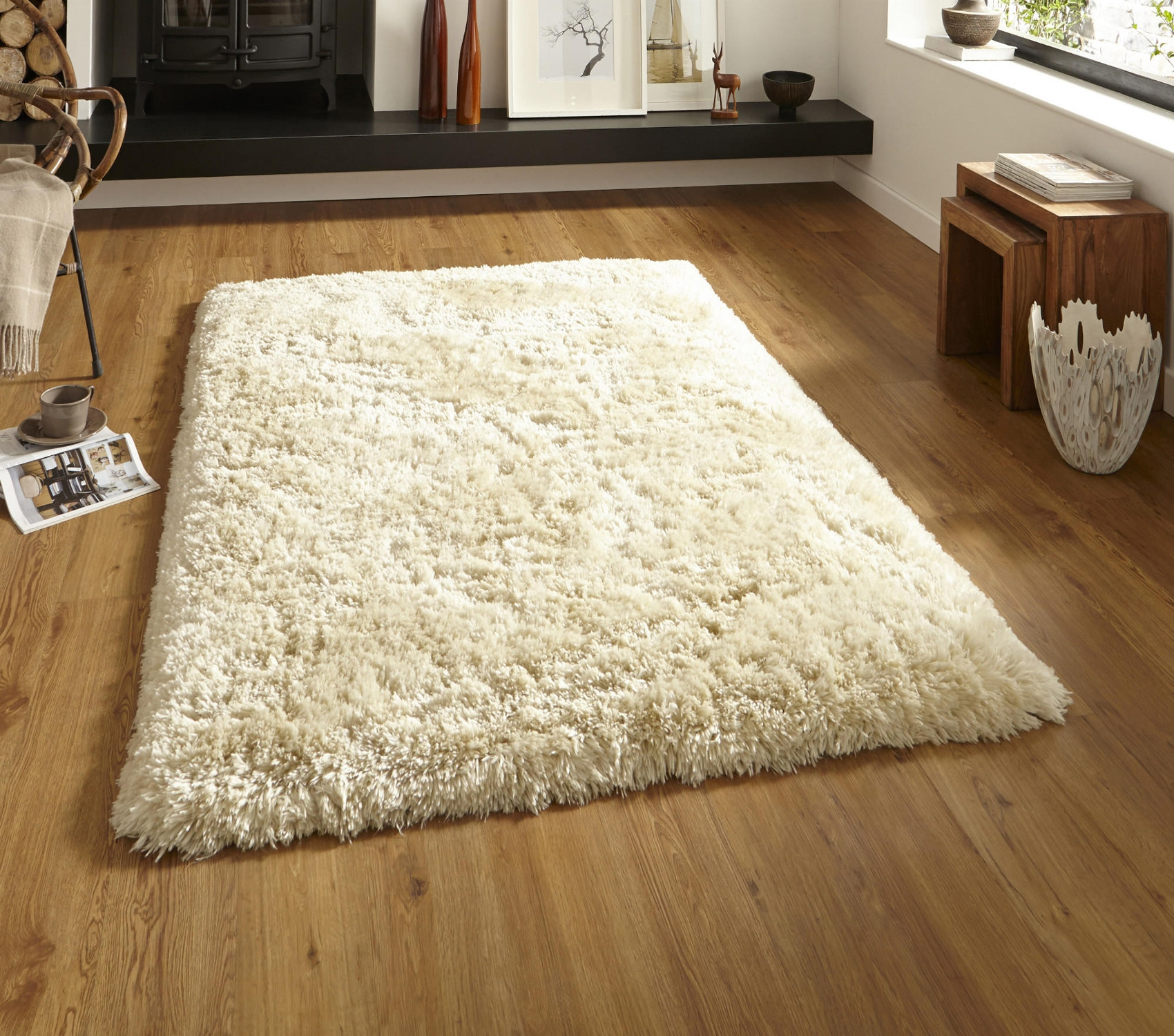 Flooring Enticing Cream Shag Rug For Decorating Your Floor Within Shaggy Rugs (Image 2 of 15)