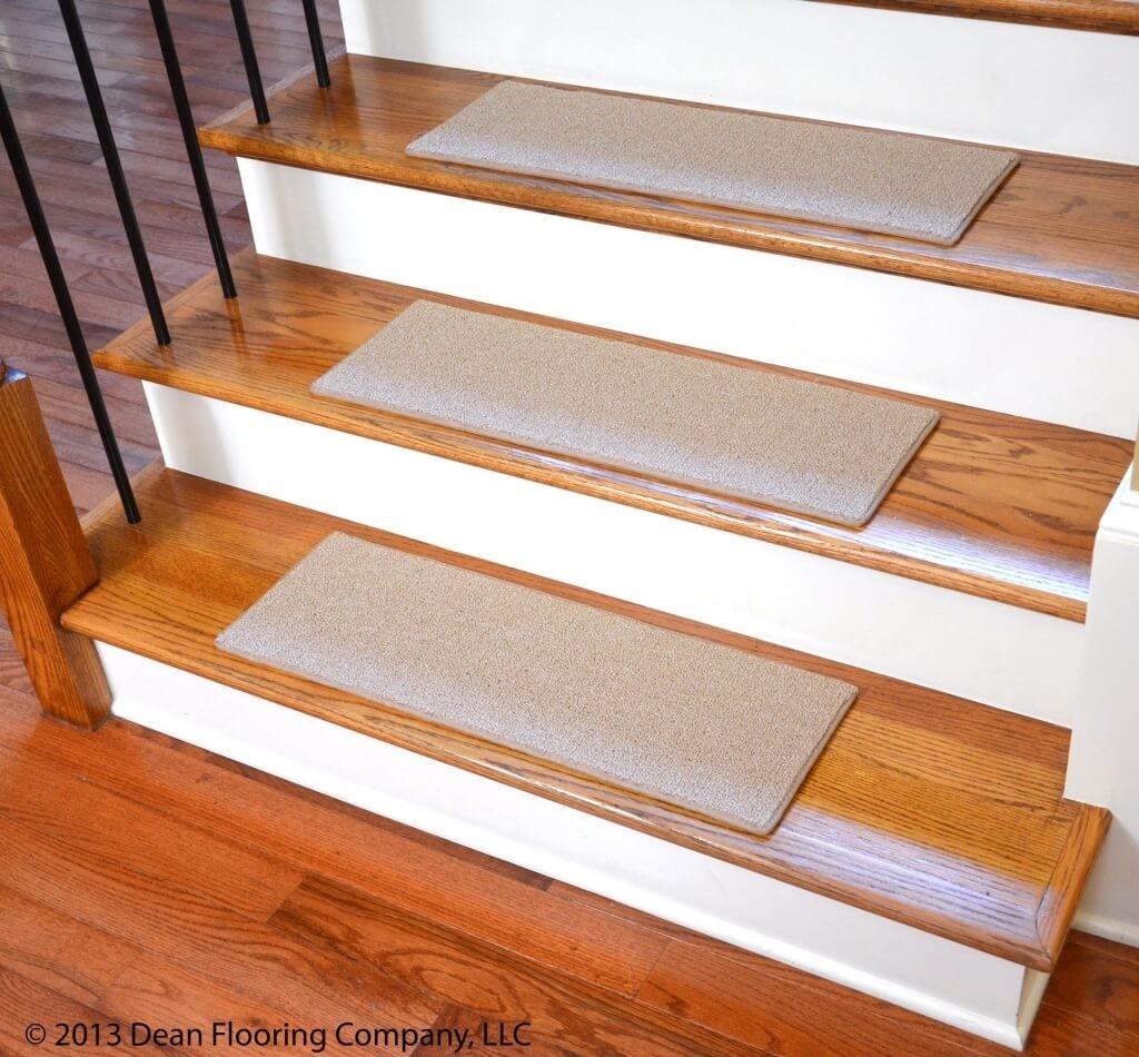 Flooring Gray Non Slip Carpet Stair Treads Non Slip Stair Treads Throughout Nonslip Stair Tread Rugs (Image 5 of 15)