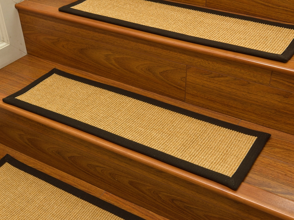 Flooring Pretty Stair Treads Carpet For Stair Decoration Idea Throughout Stair Tread Rugs For Carpet (View 7 of 15)