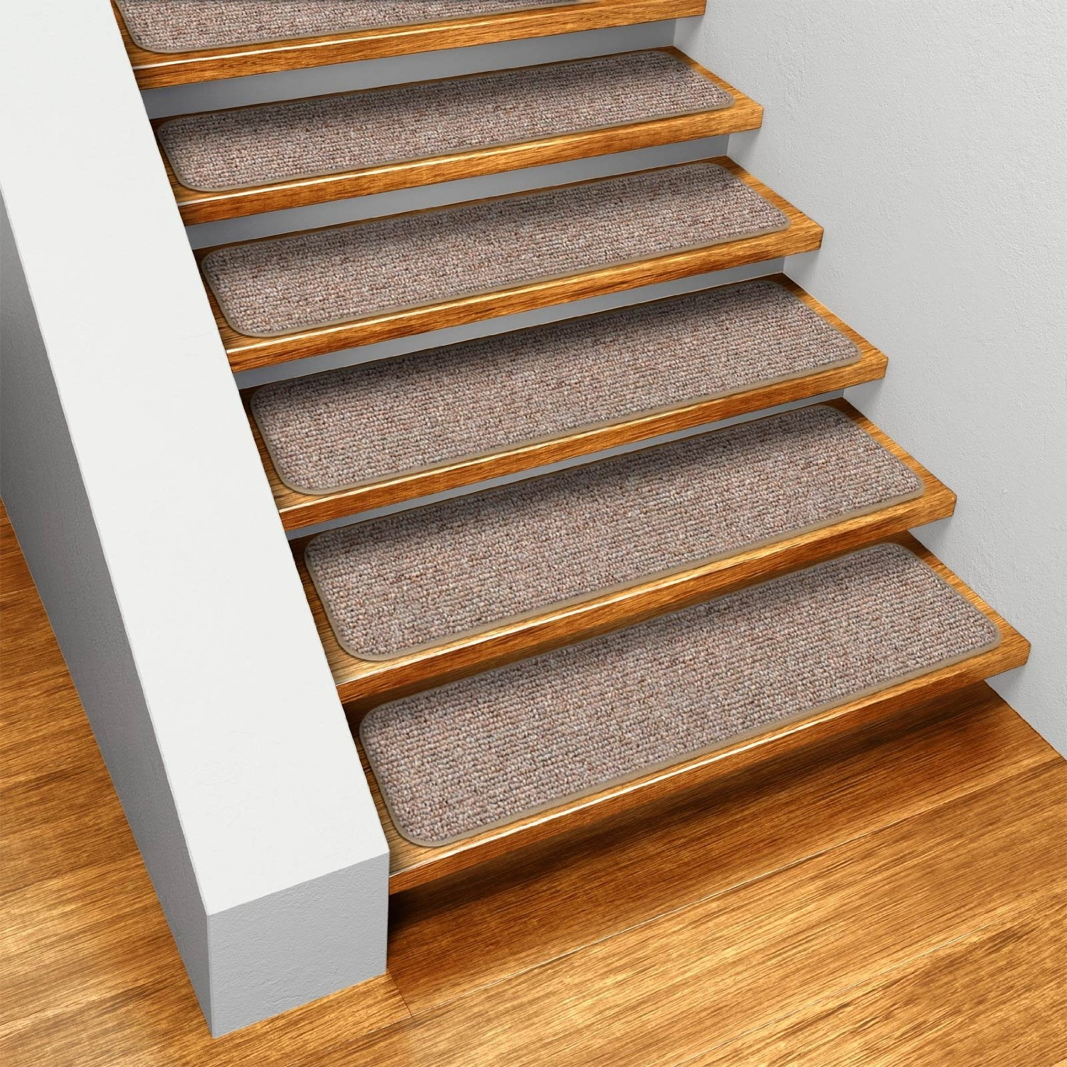 Flooring Pretty Stair Treads Carpet For Stair Decoration Idea Within Individual Stair Tread Rugs (Image 11 of 15)