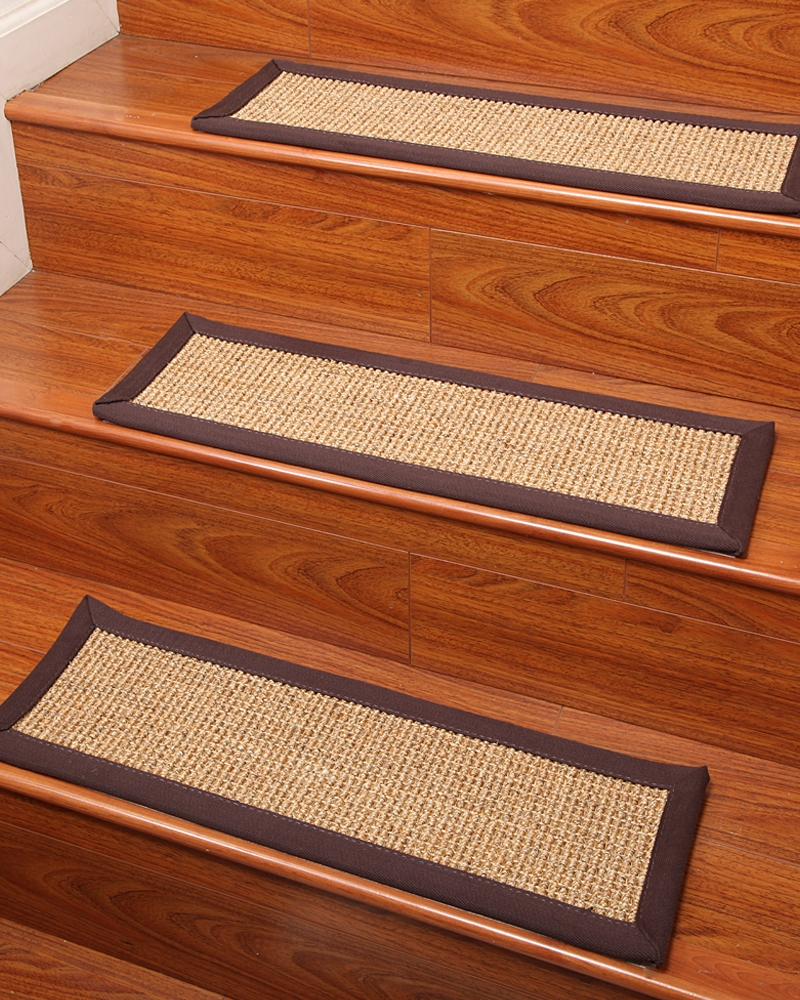 Flooring Pretty Stair Treads Carpet For Stair Decoration Idea Within Sisal Stair Tread Rugs (Image 6 of 15)