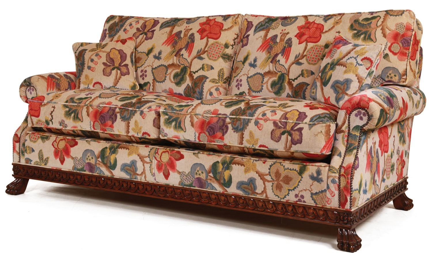 Floral Corner Sofas Order Free Fabric Swatches Loaf River Academy Intended For Chintz Fabric Sofas (Image 5 of 15)