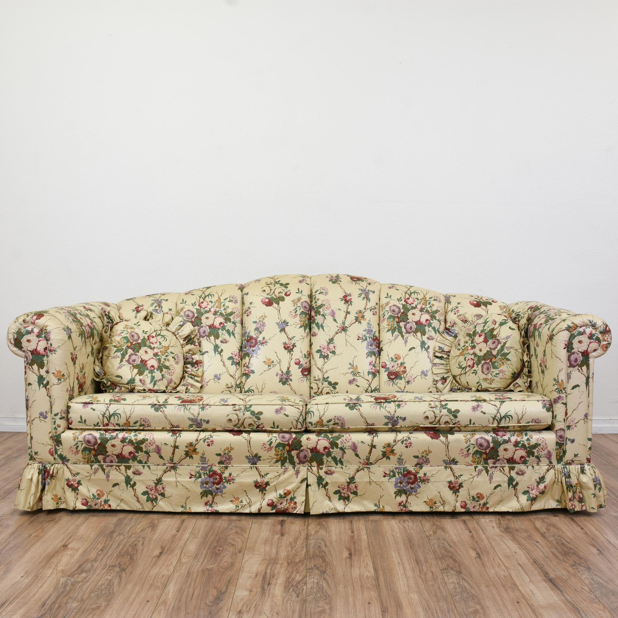 Floral Liberty Chintz Print Sofa Long Sofa Country Sofas And Regarding Chintz Sofa Beds (Image 10 of 15)