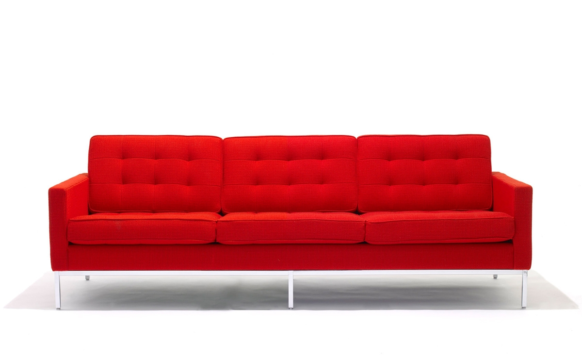Florence Knoll 3 Seat Sofa Hivemodern Inside Florence Sofa Beds (Image 1 of 15)