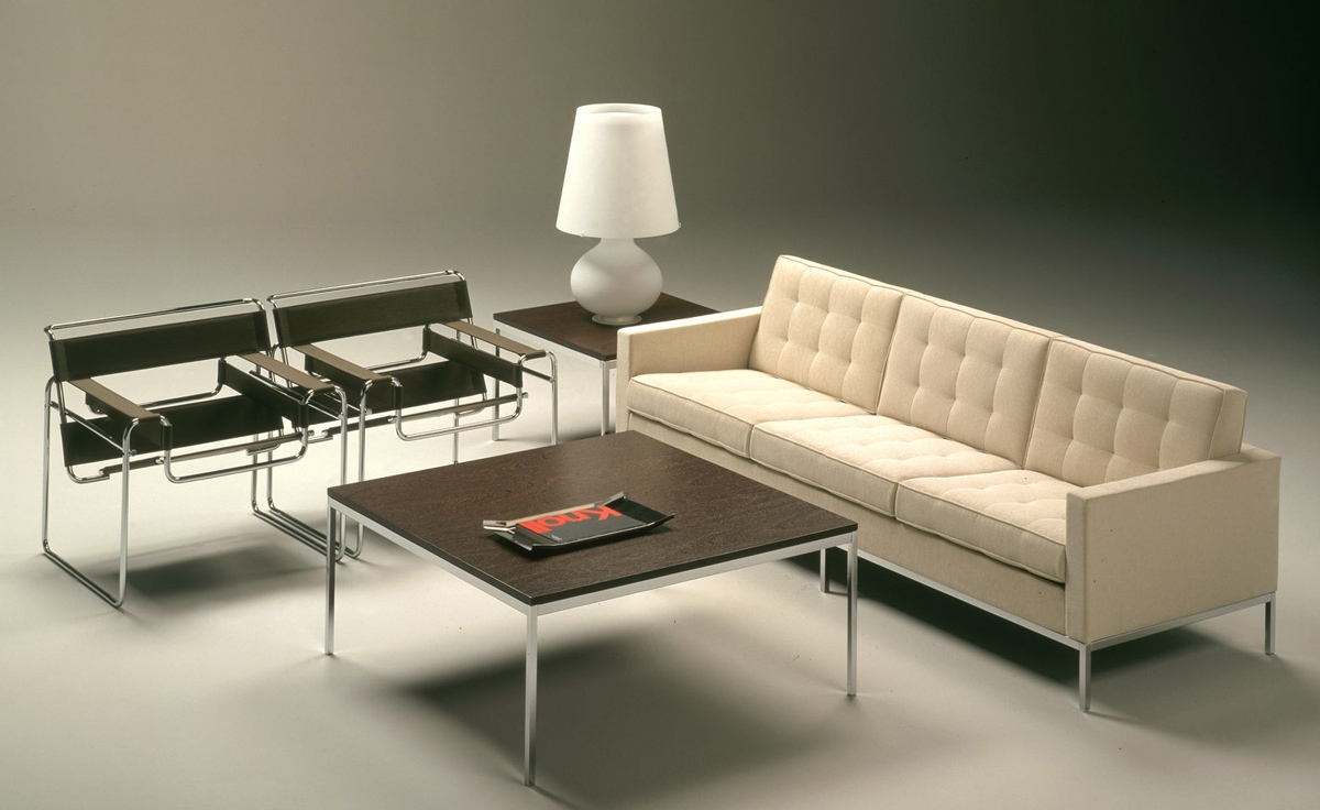 Florence Knoll 3 Seat Sofa Hivemodern Regarding Florence Sofa Beds (Image 3 of 15)
